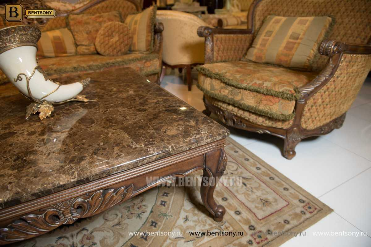 Гостиная Рамирес (Классика, Ткань, Массив дерева) каталог мебели