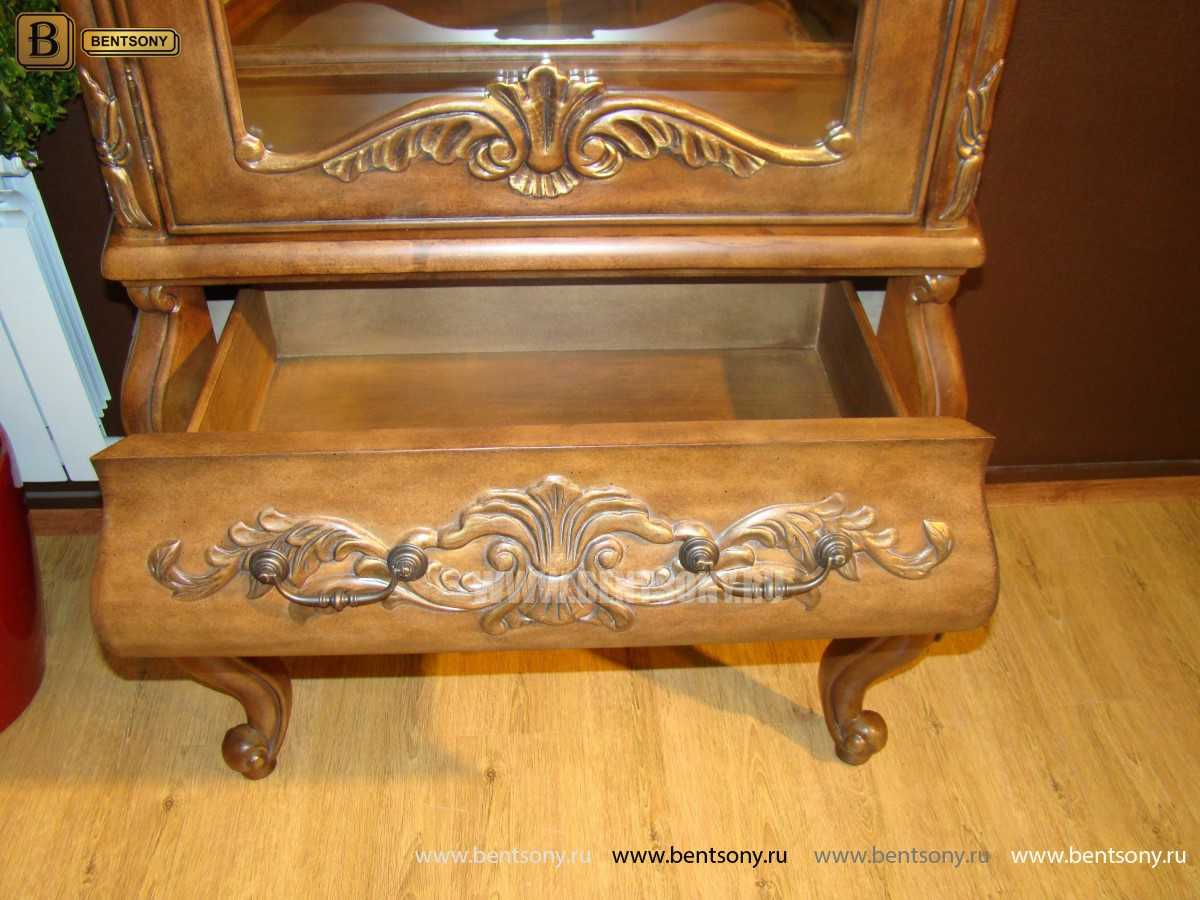Стенка Рамирес (Классика, резьба, массив дерева) каталог мебели с ценами