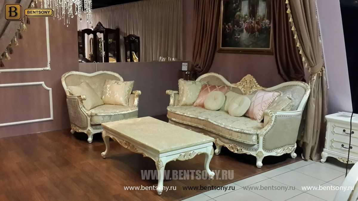 Стол Журнальный H3 Амадео (Классика, патина) каталог мебели