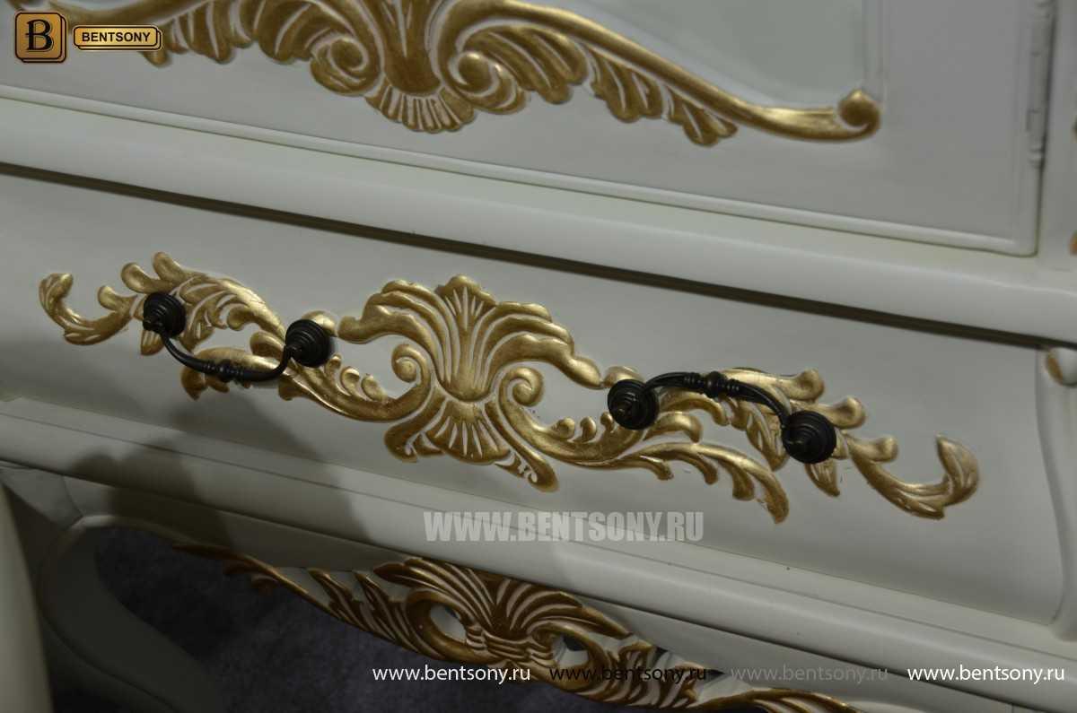 Гостиная Амадео (Классика, Патина, Массив дуба) каталог мебели с ценами