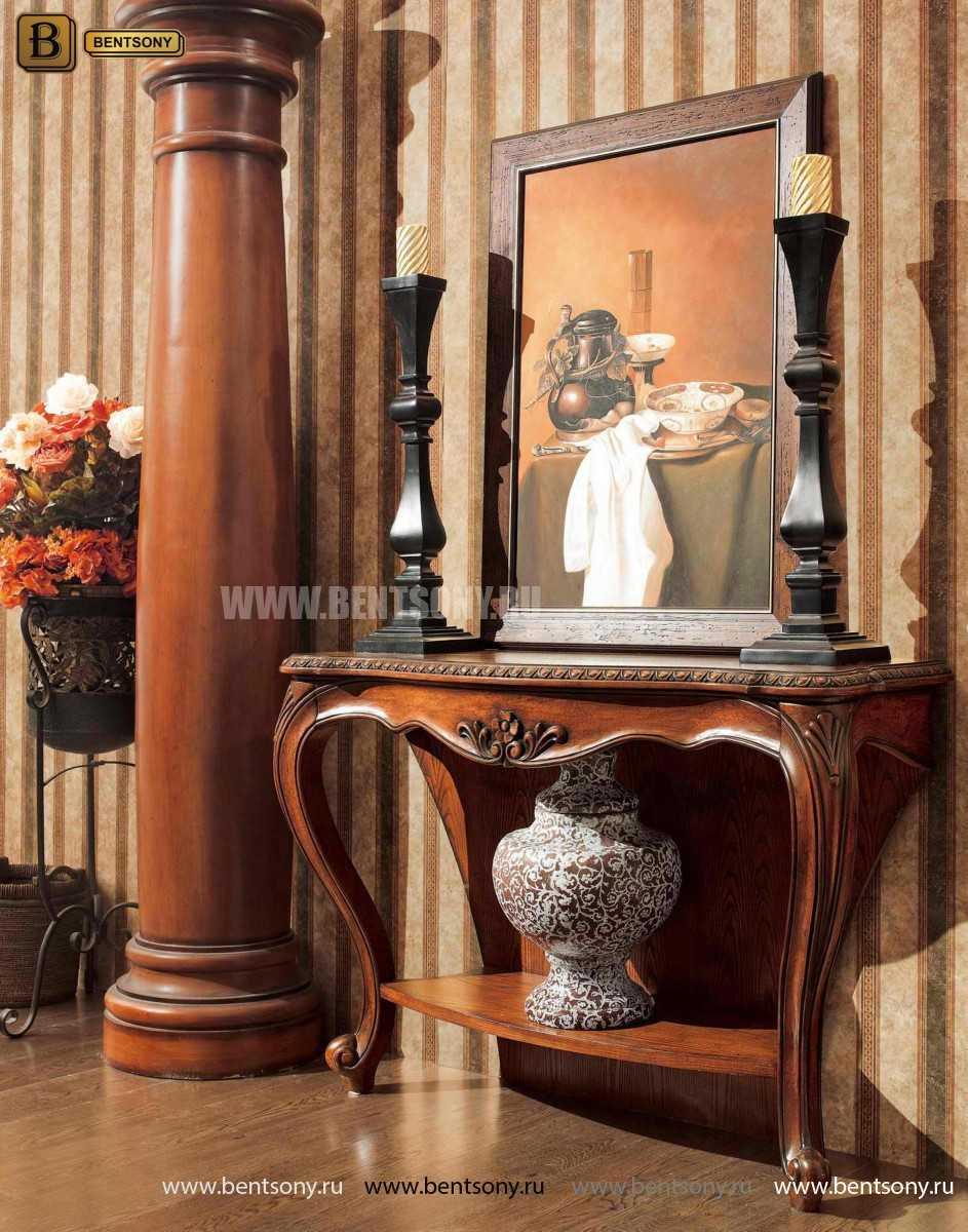 Консоль Монтана (деревянная столешница, классика) купить в Москве