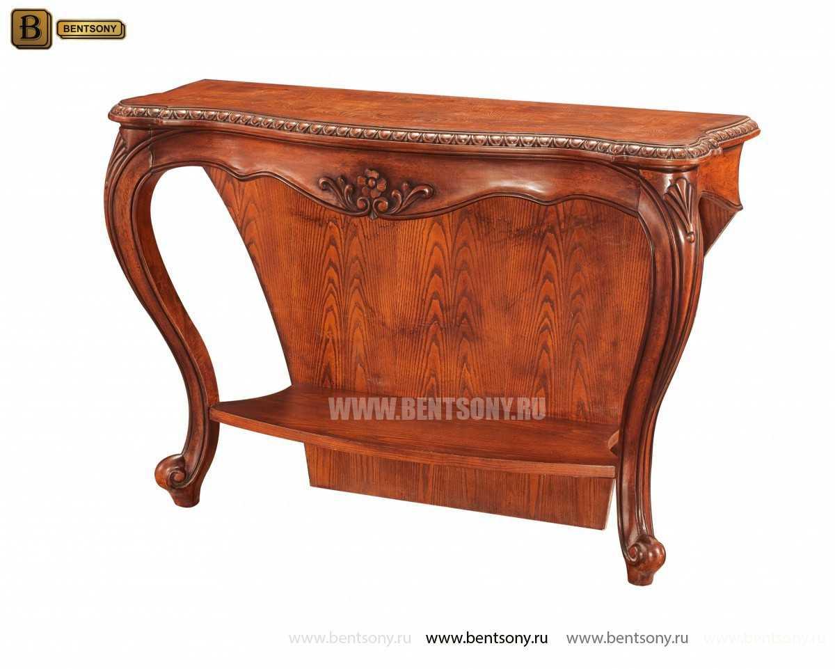 Консоль Монтана (деревянная столешница, классика) купить в СПб