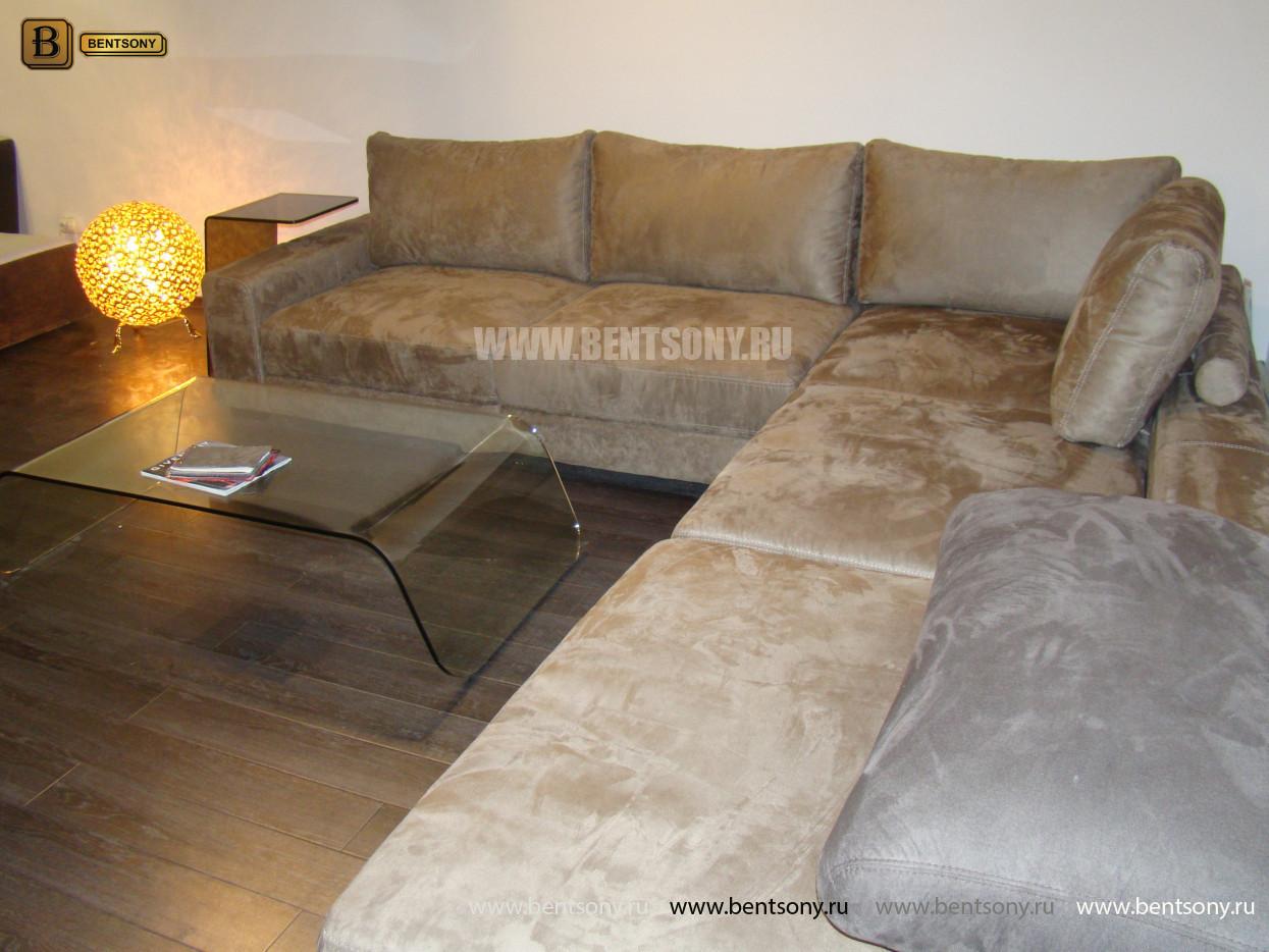 замшевый угловой диван Луиджи