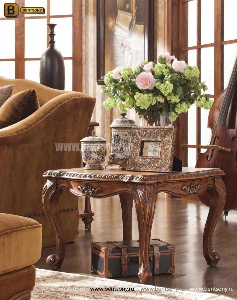 Стол журнальный Монтана А, чайный (Классика, массив дерева) купить в Москве