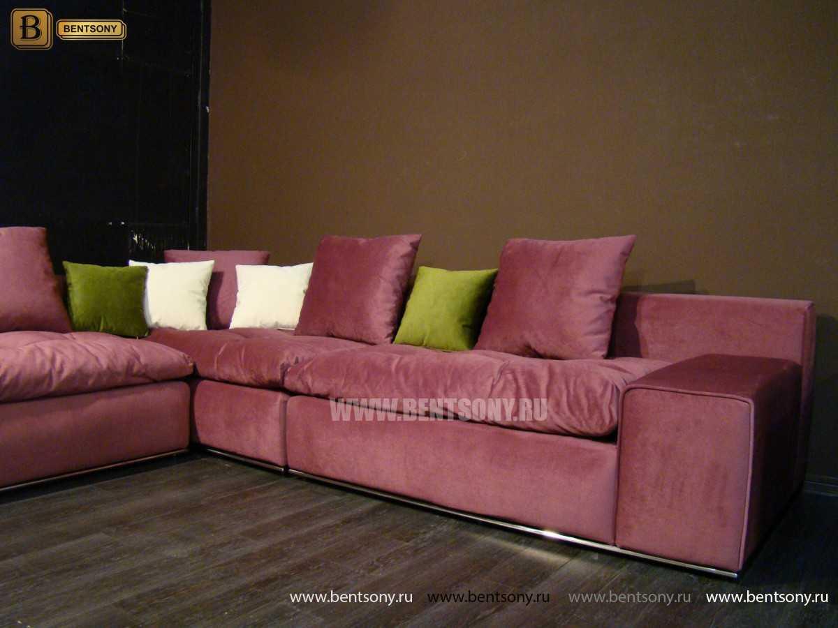 Угловой диван Бениамино с подушками