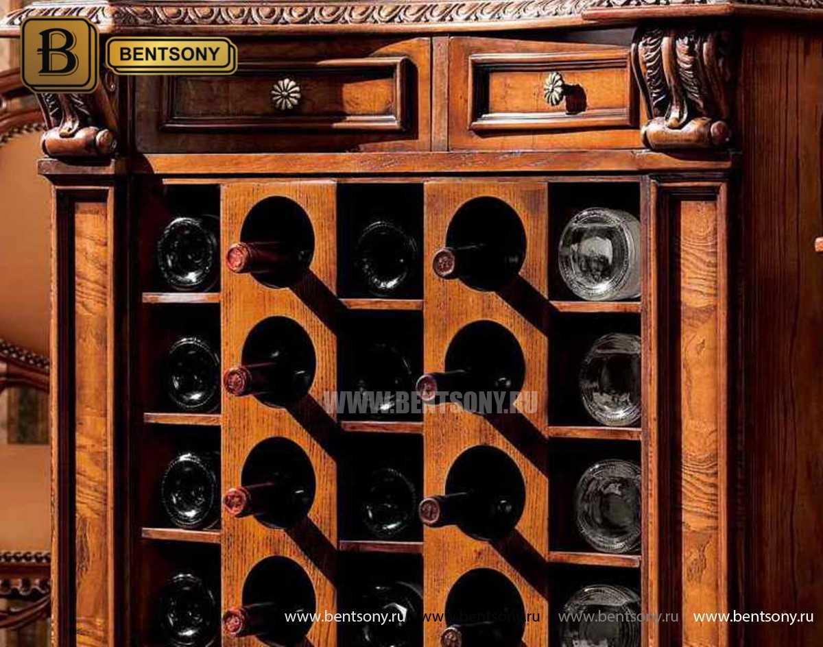 Винный шкаф Монтана (Массив дерева, классика) распродажа