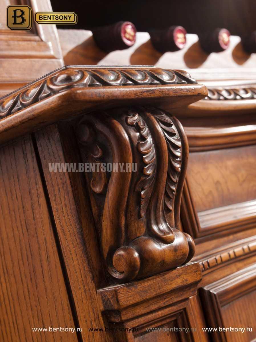 Винный шкаф Монтана (Массив дерева, классика) в интерьере