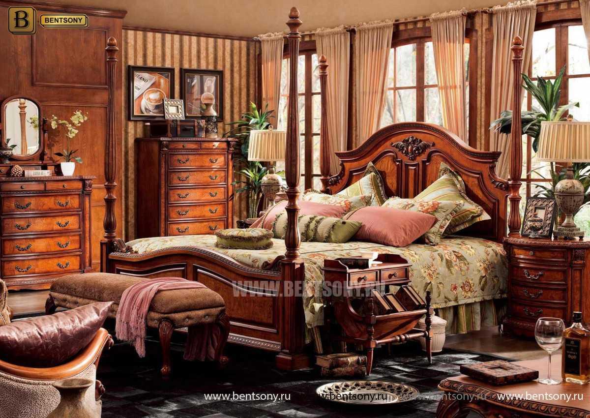 Кровать Монтана А (Классика, массив дерева) для дома