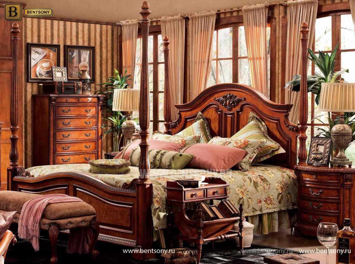 Кровать Монтана А (Классика, массив дерева) каталог мебели