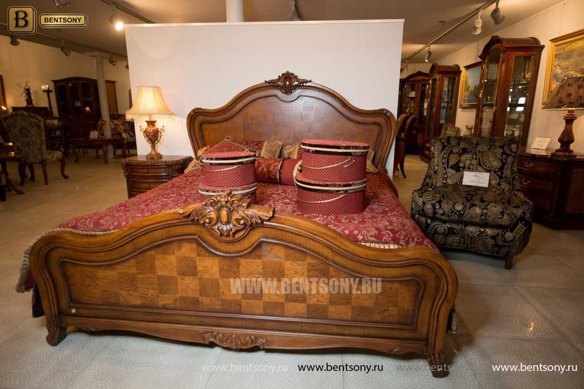 Кровать Монтана D для спальни (Классика, массив дерева) каталог