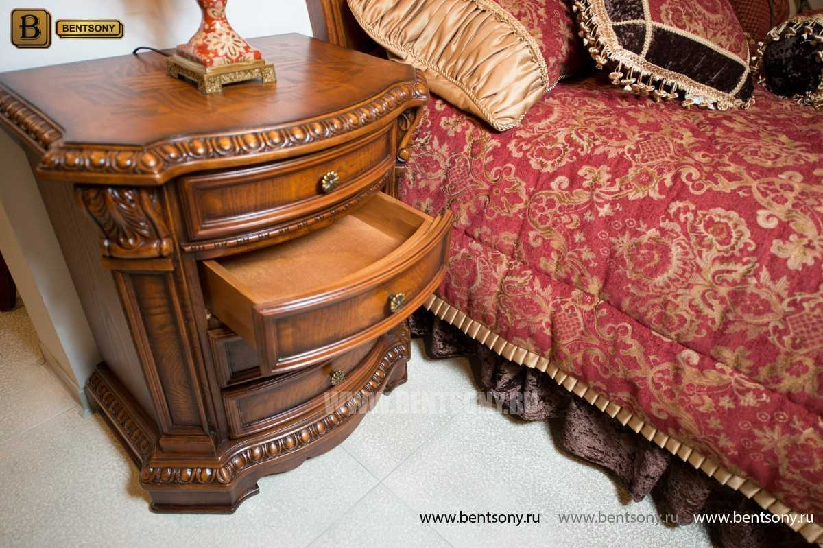Кровать Монтана D для спальни (Классика, массив дерева) купить в СПб