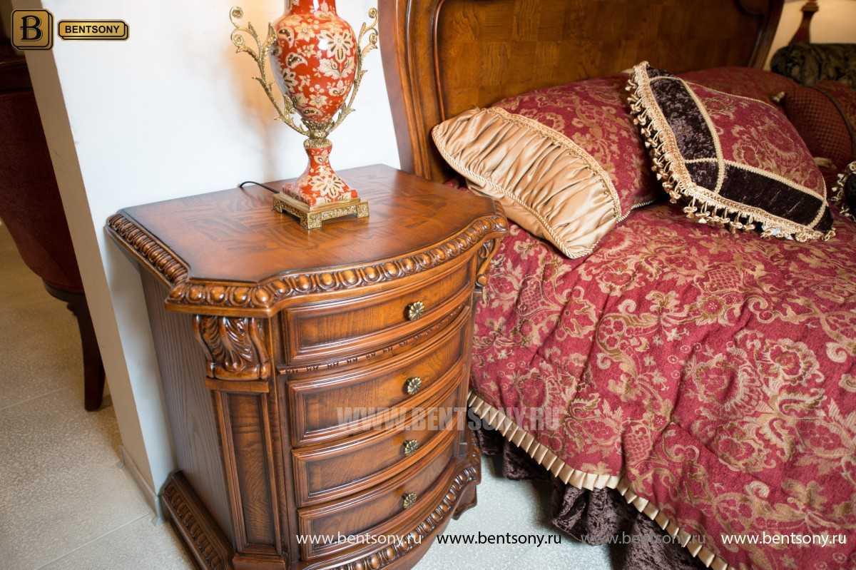 Кровать Монтана D для спальни (Классика, массив дерева) в СПб