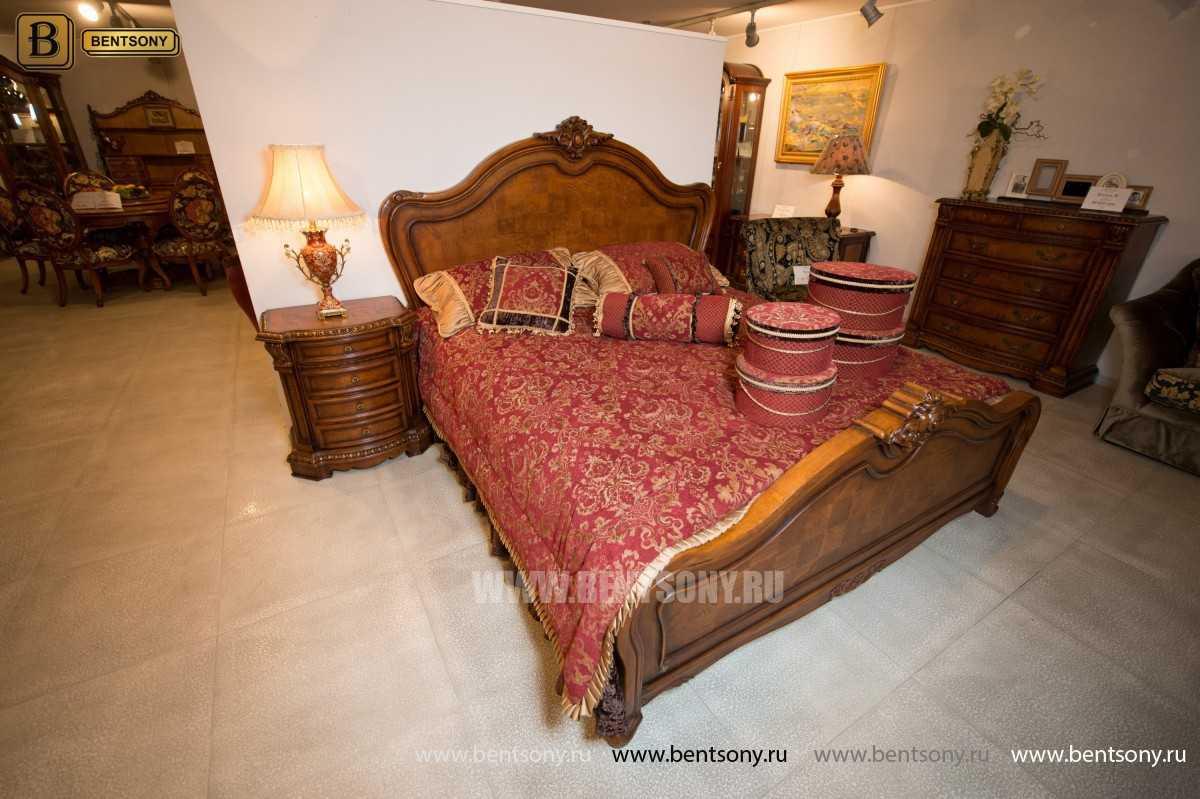 Кровать Монтана D для спальни (Классика, массив дерева) официальный сайт цены