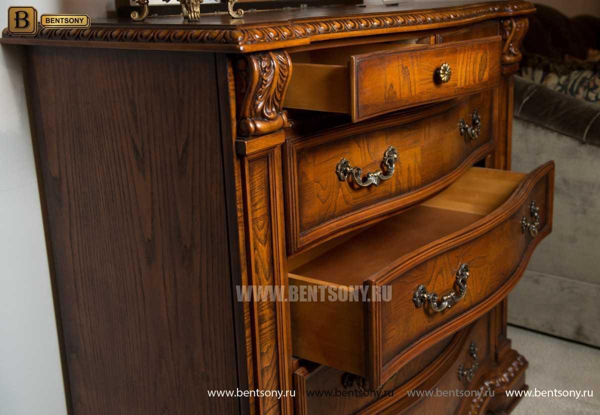 Комод Монтана В c Зеркалом (резной, массив дерева) каталог мебели с ценами