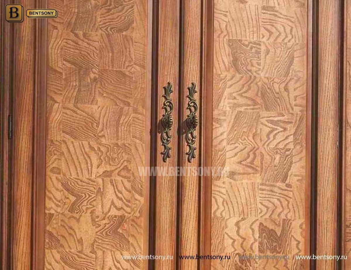 Шкаф 4-х дверный Монтана (Классика, массив дерева) для квартиры
