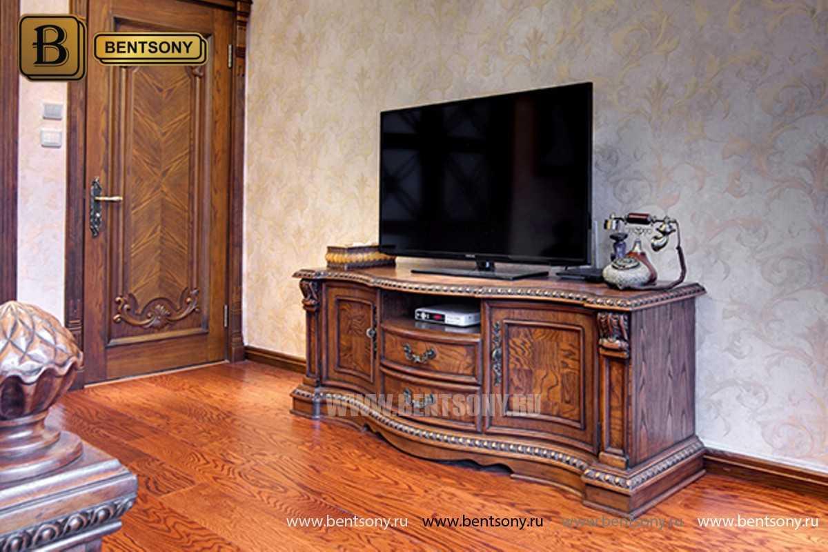 ТВ Тумба Монтана A (Столешница дерево, классика) изображение