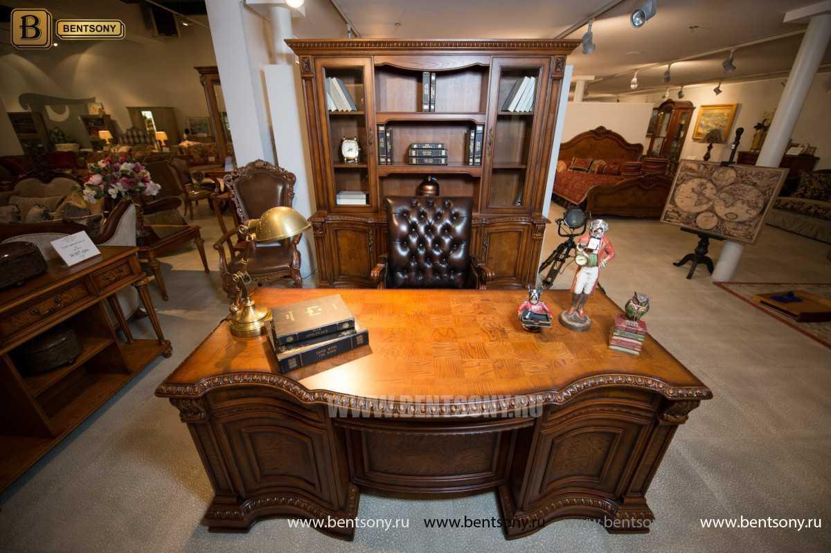 Письменный стол Монтана большой для кабинета (классика, массив дерева) цена