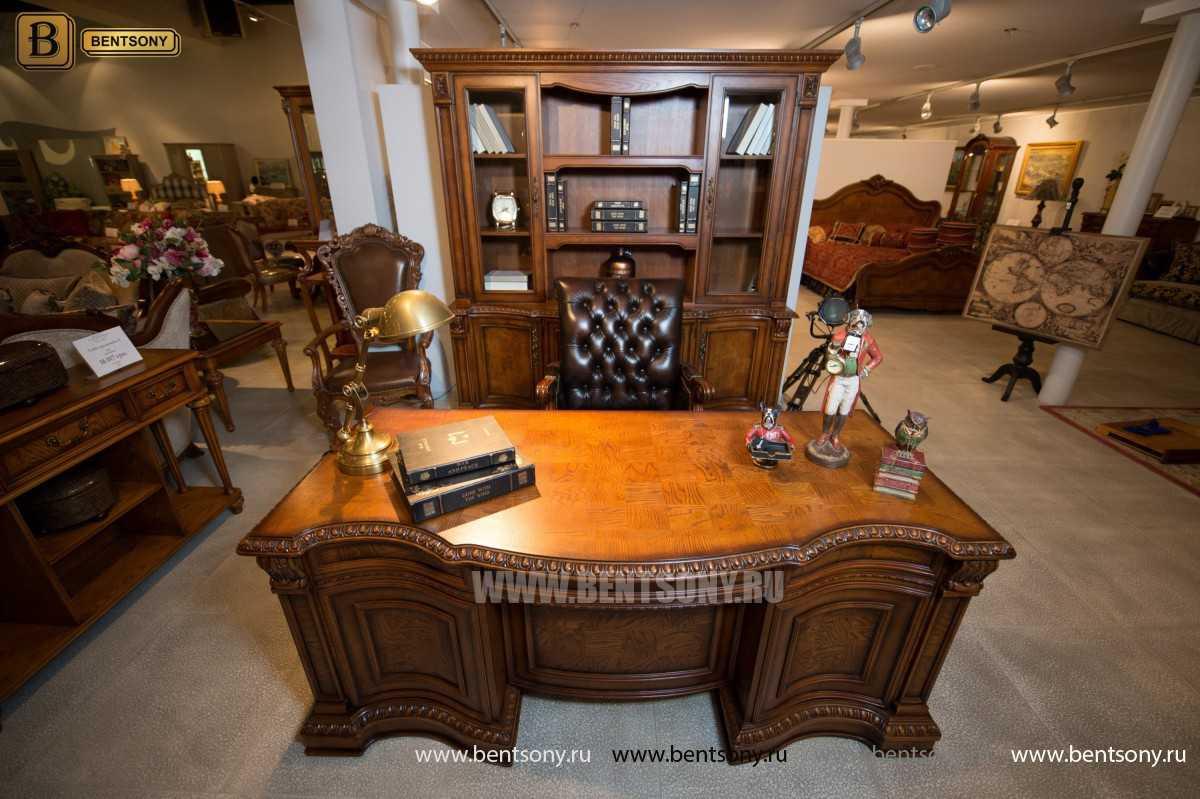 Письменный стол Монтана большой для кабинета (классика, массив дерева) сайт цены