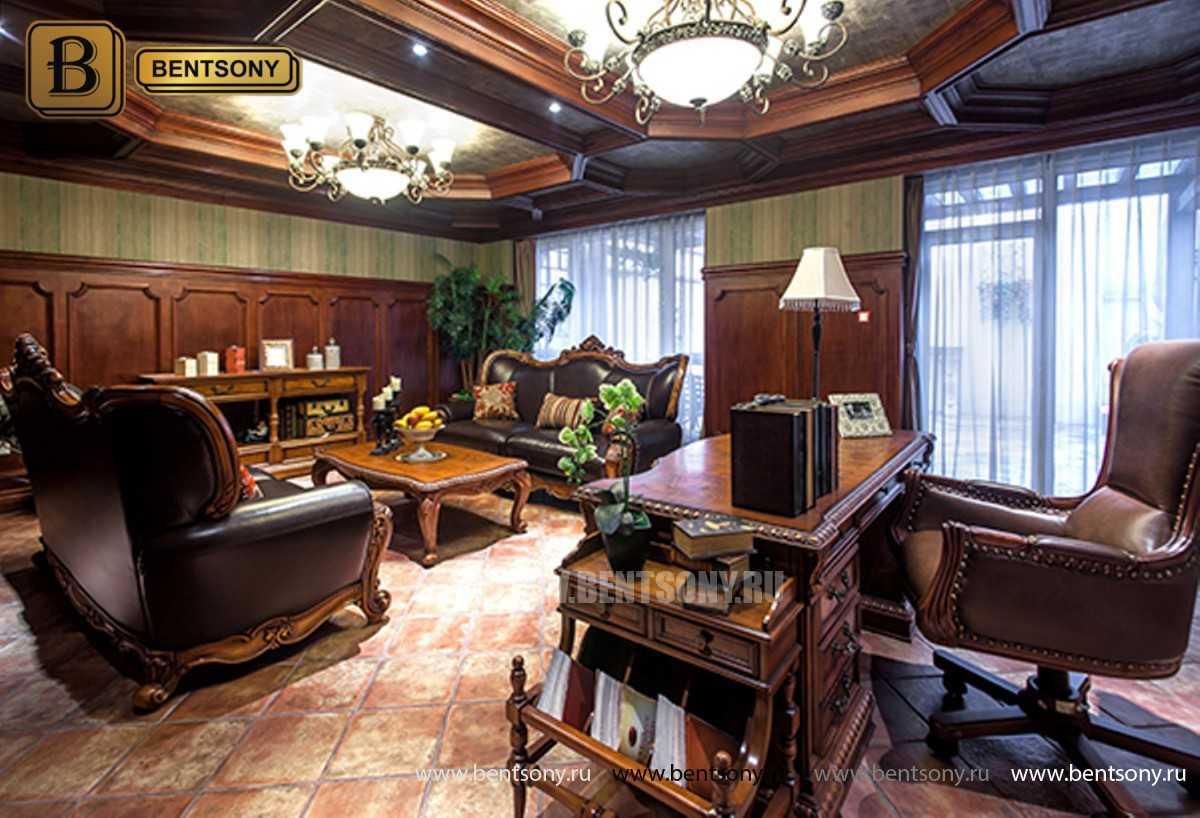 Письменный стол Монтана большой для кабинета (классика, массив дерева) в Москве