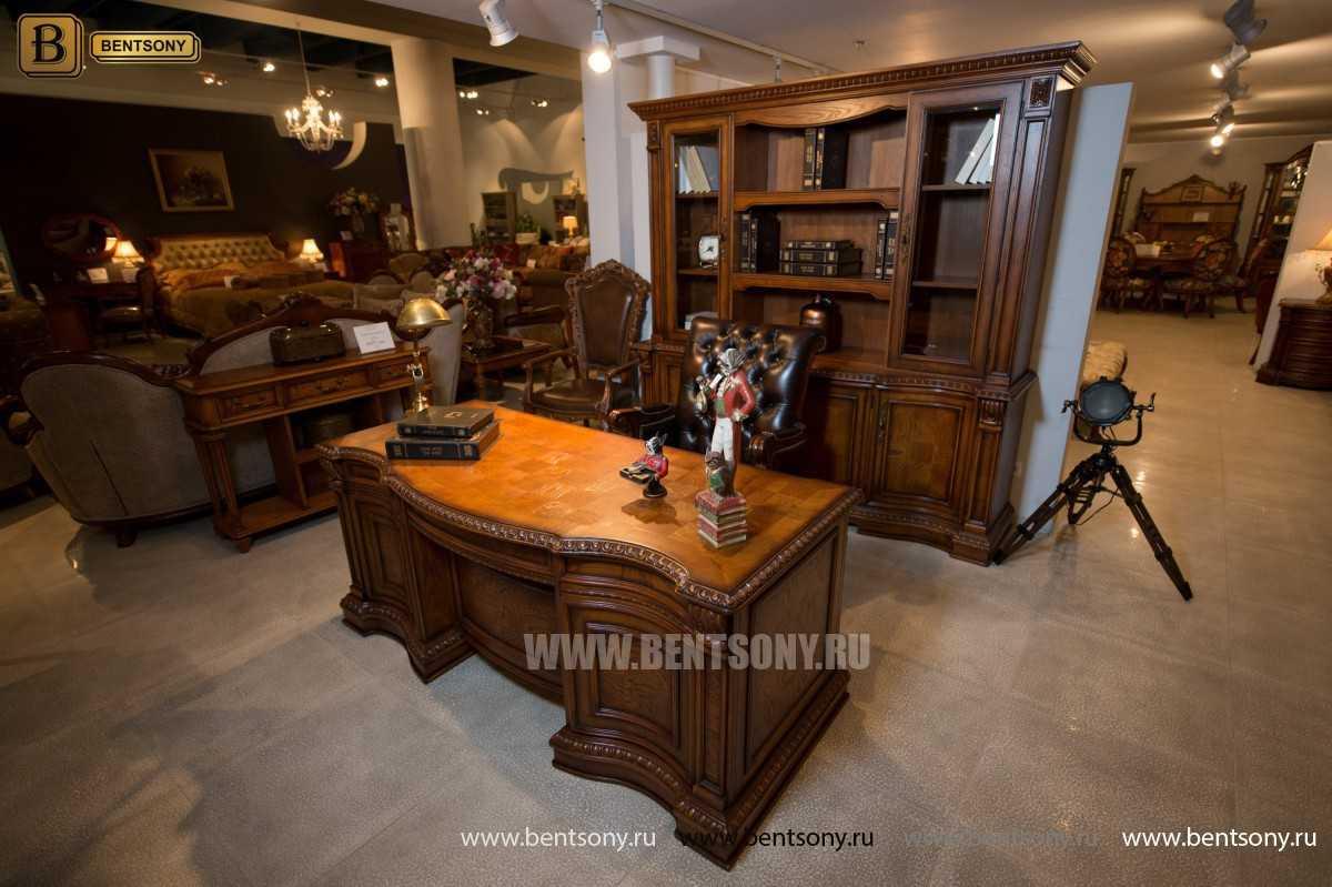 Шкаф Книжный Монтана (Прямой, массив дерева) магазин Москва