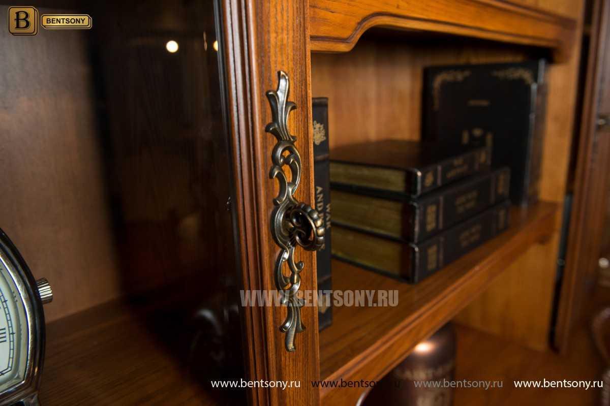 Шкаф Книжный Монтана (Прямой, массив дерева) для дома