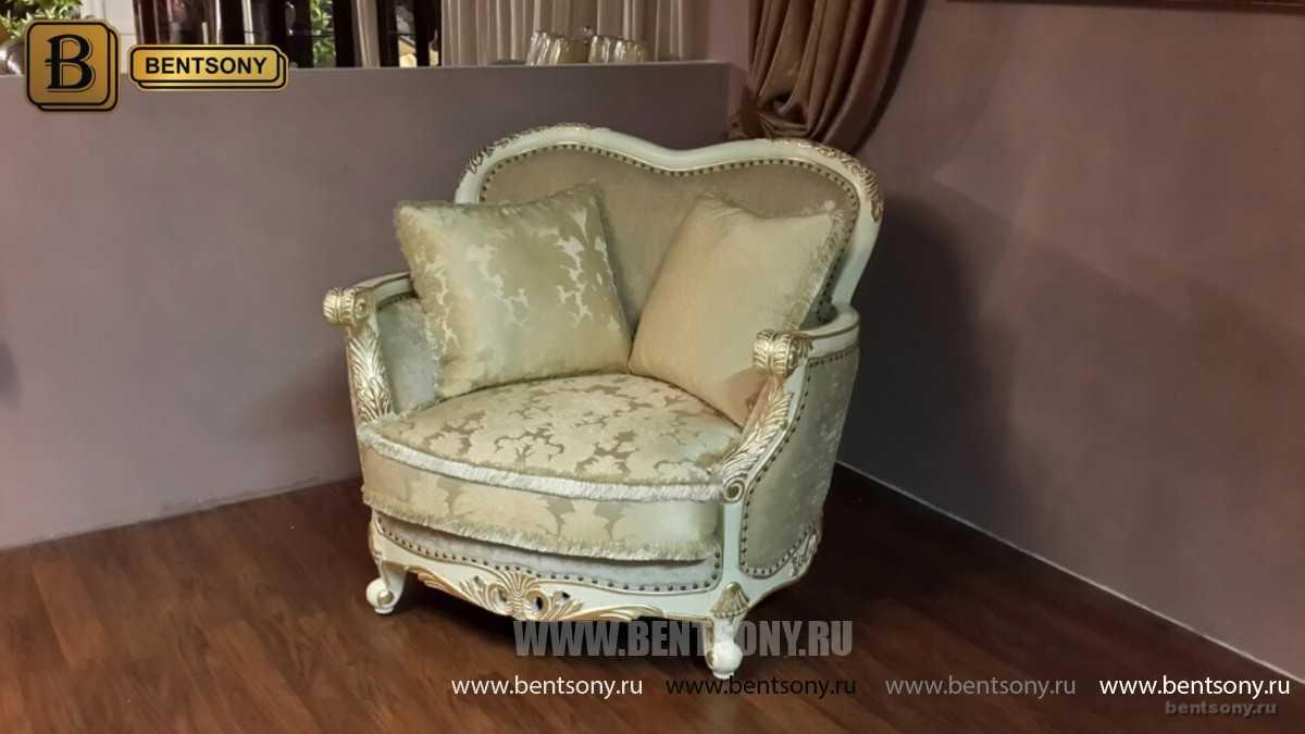 Кресло Амадео (Классика, массив дуба, патина) каталог