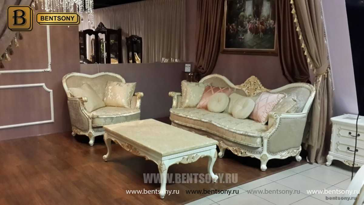 Кресло Амадео (Классика, массив дуба, патина) распродажа