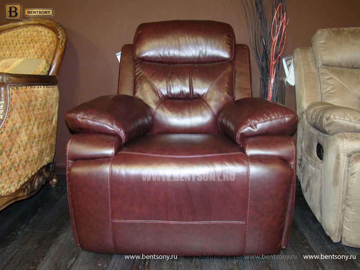 натуральная кожа кресло реклайнером Амелия