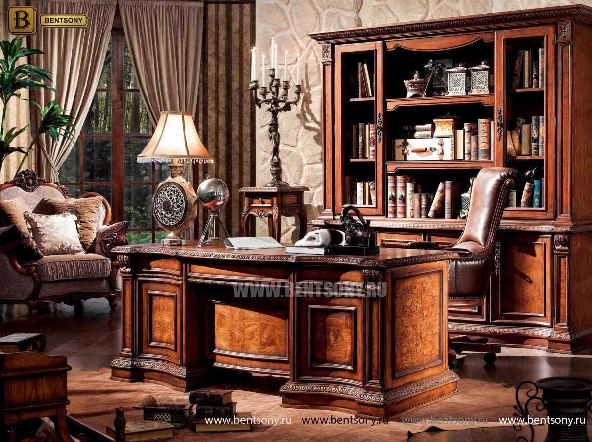 Кабинет Монтана 02 (Классика, Массив дерева) каталог мебели с ценами