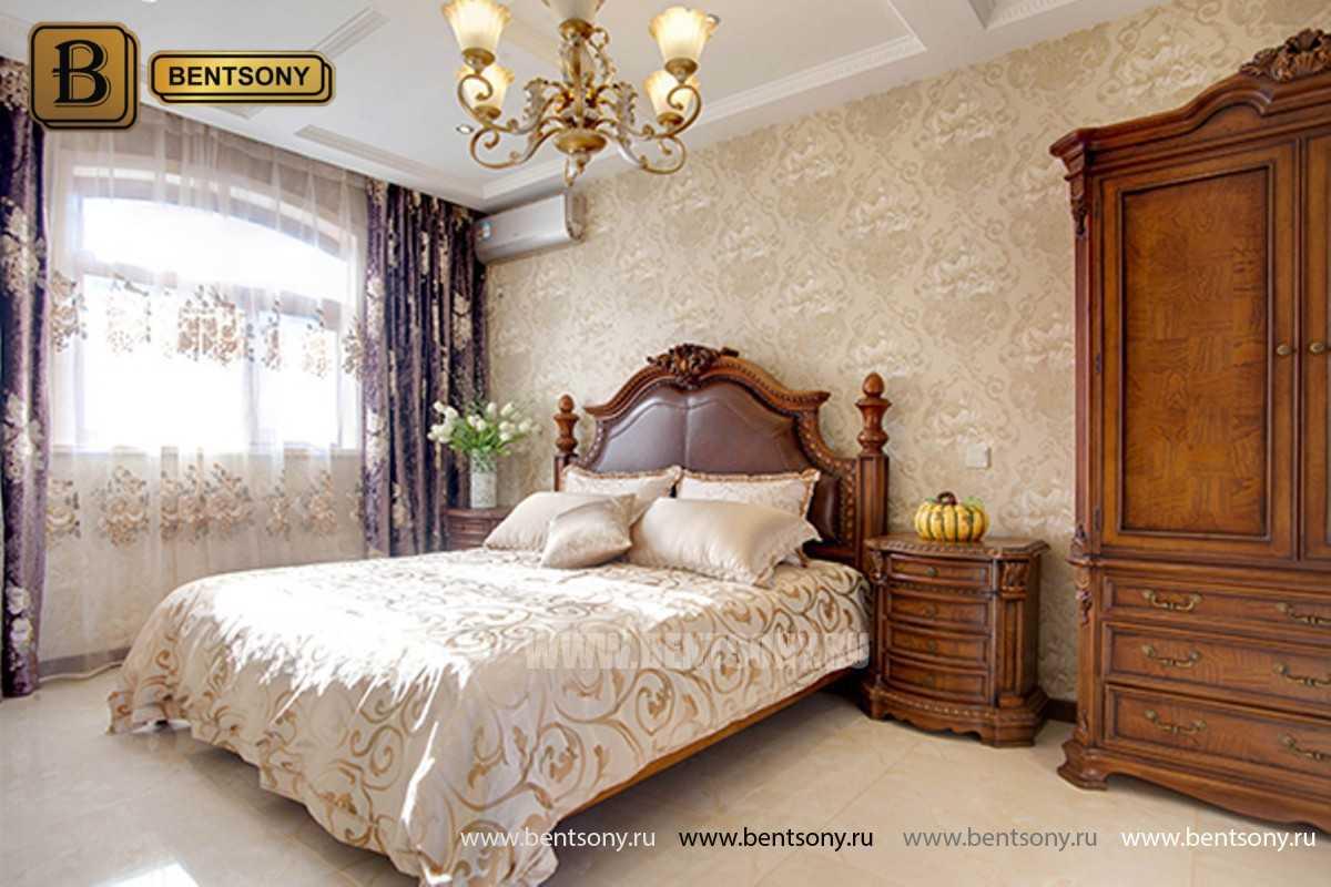 Спальня Монтана B (Натуральная кожа, массив дерева) фото