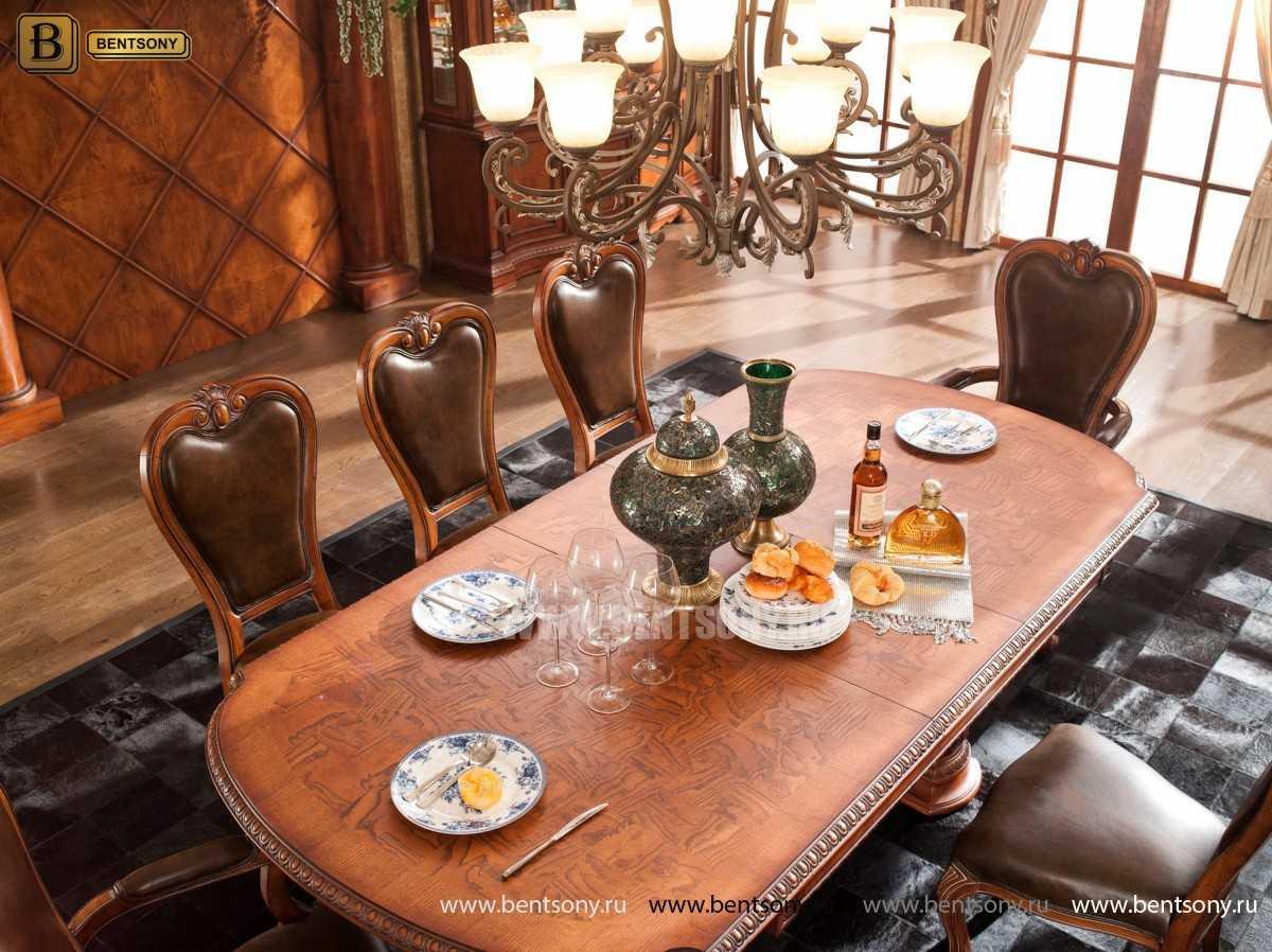Обеденный стол Монтана (Раскладной, массив дерева) в интерьере