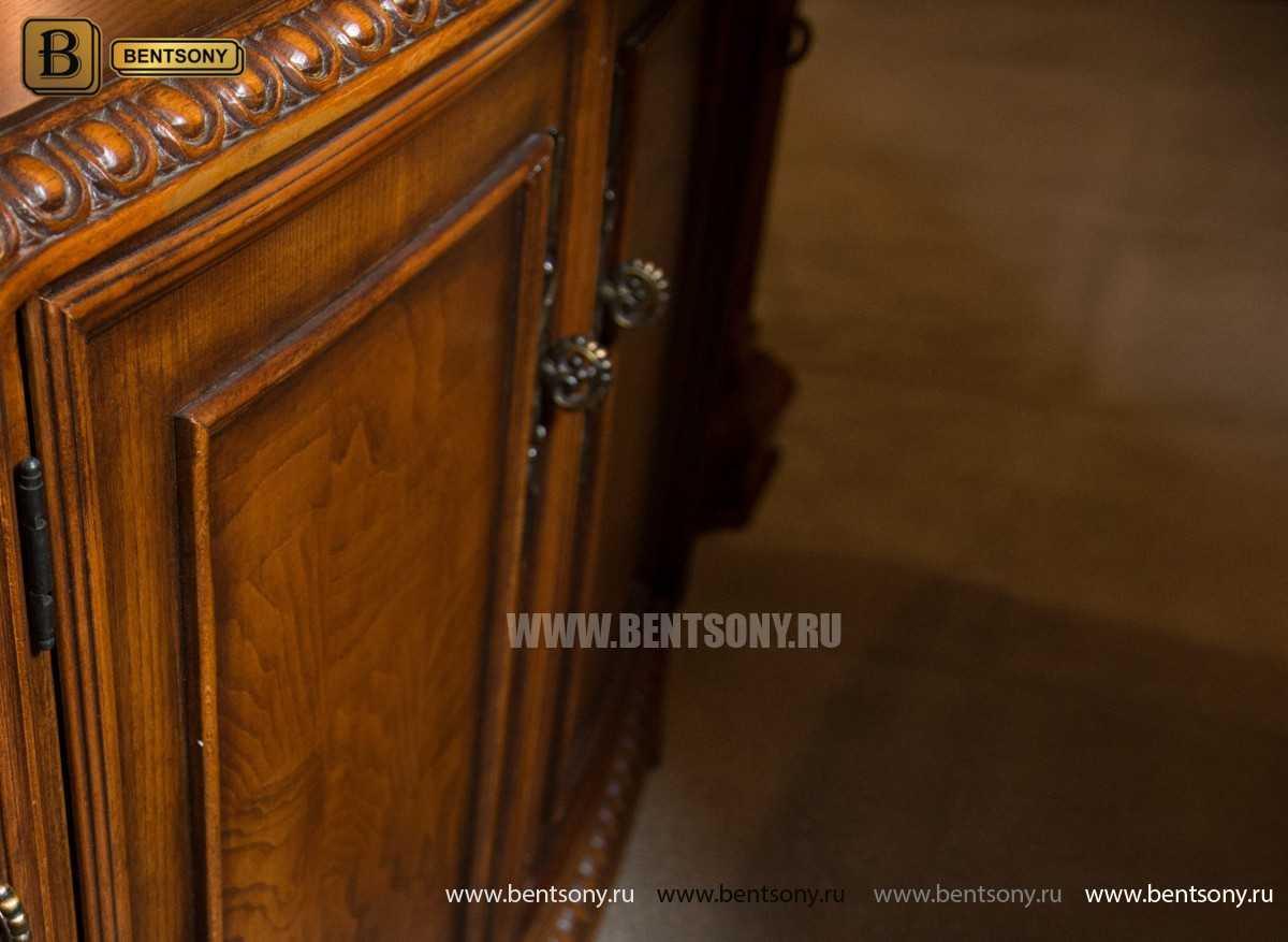 Витрина Двухсторонняя Монтана (Классика, массив дерева) фото