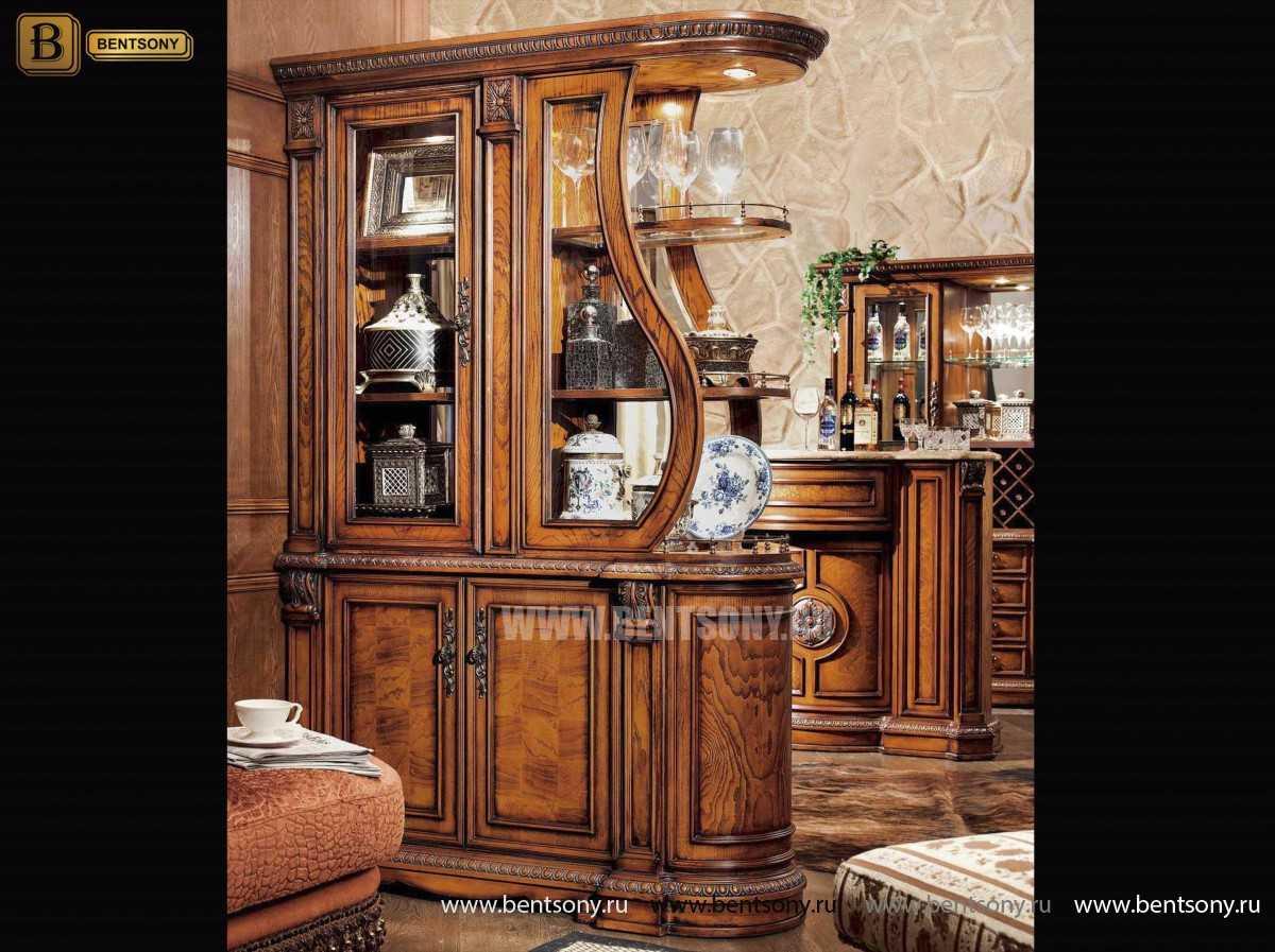 Витрина Двухсторонняя Монтана (Классика, массив дерева) каталог мебели