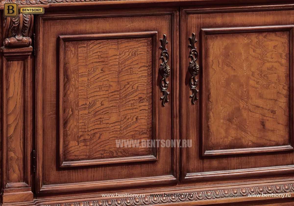 Витрина 2-х дверная Монтана (Классика, массив дерева) в Москве