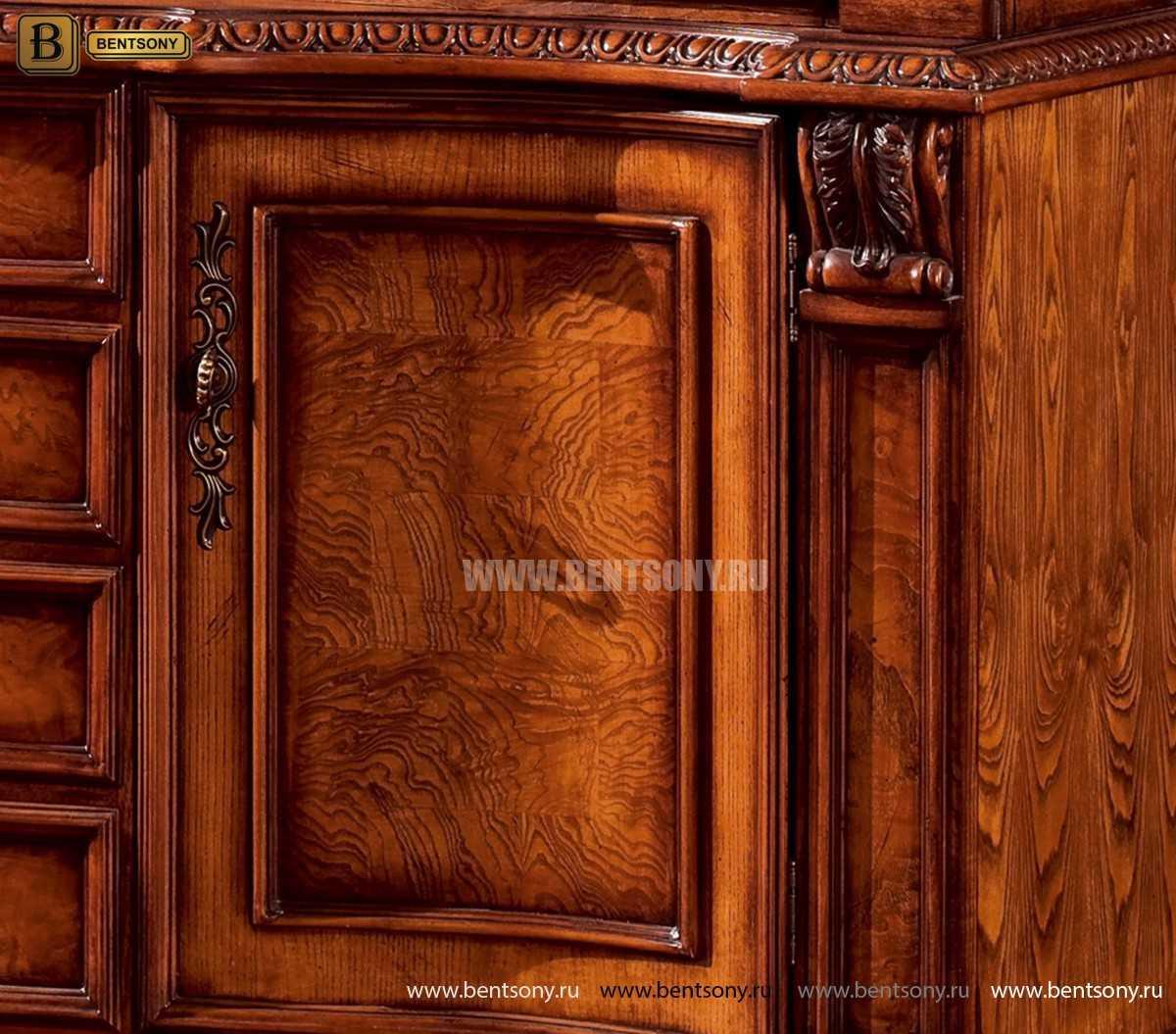 Барный шкаф 3-х дверный Монтана (Классика, массив дерева) интернет магазин