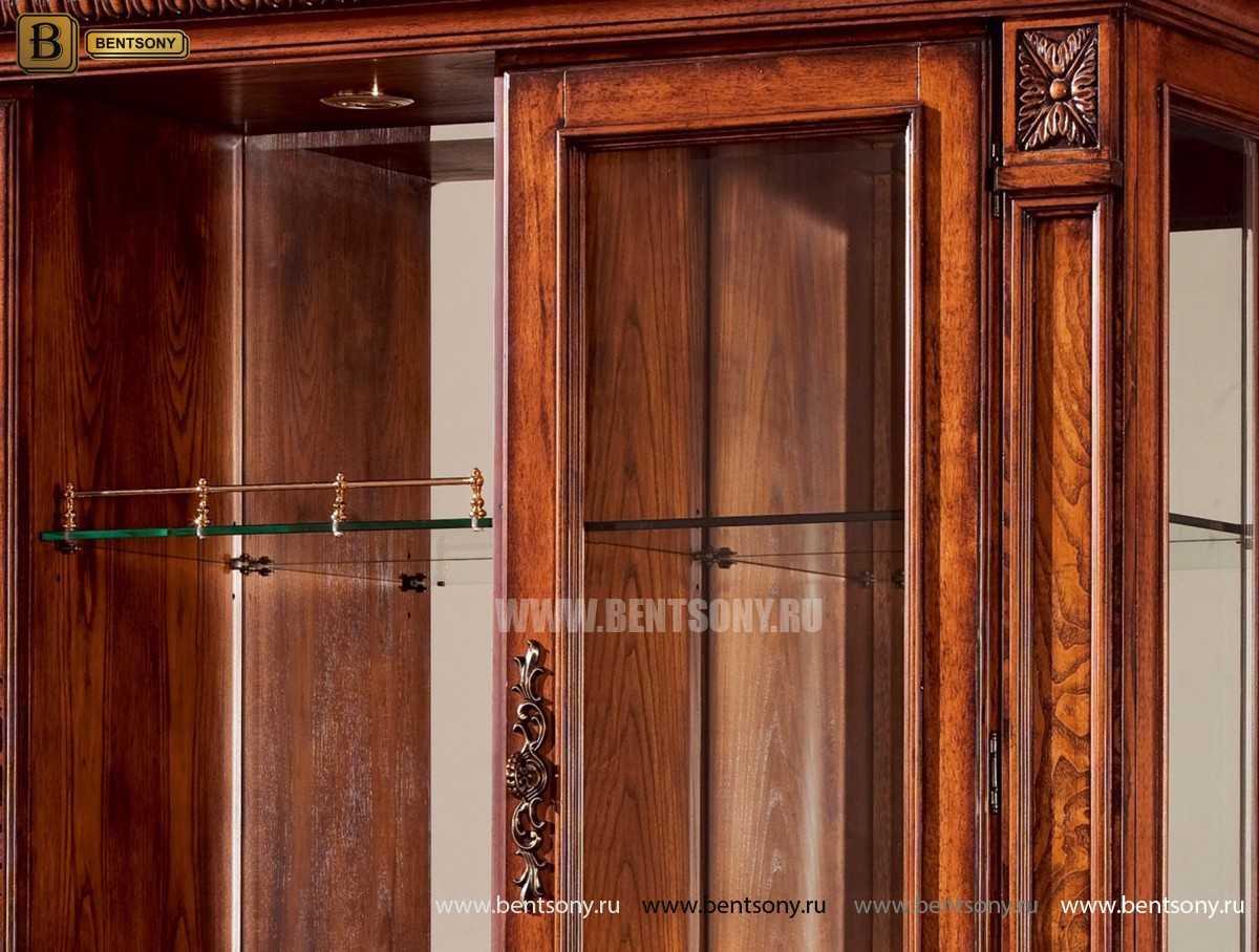 Барный шкаф 3-х дверный Монтана (Классика, массив дерева) магазин