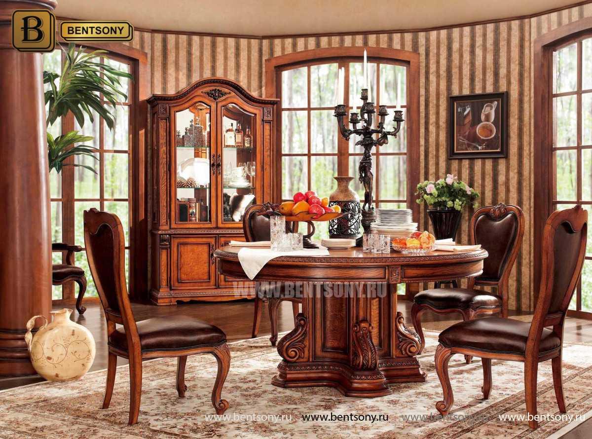 Обеденный стол Монтана (Круглый, массив дерева) купить