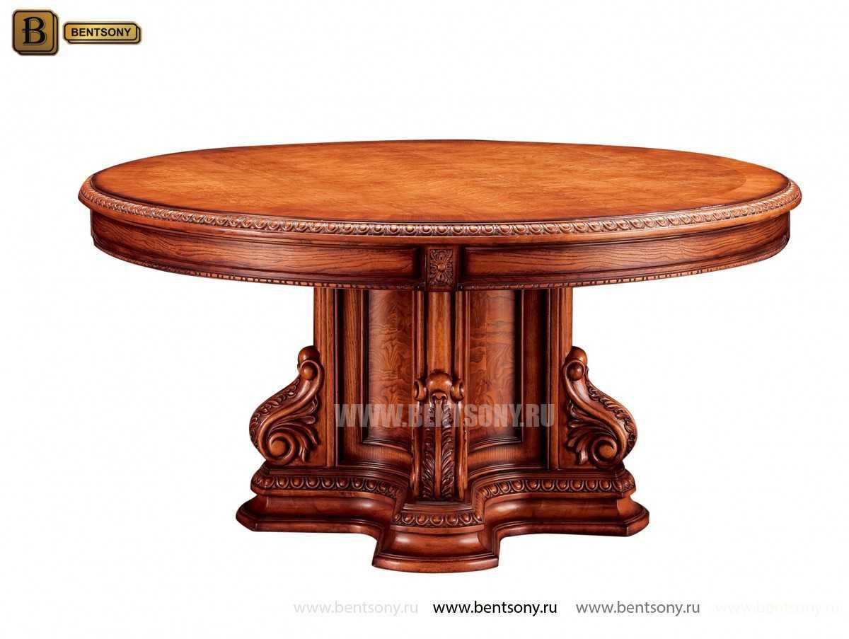 Обеденный стол Монтана (Круглый, массив дерева) в интерьере
