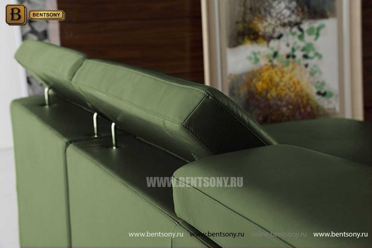 Диван Данте (Натуральная кожа, С Шезлонгом) купить в Москве