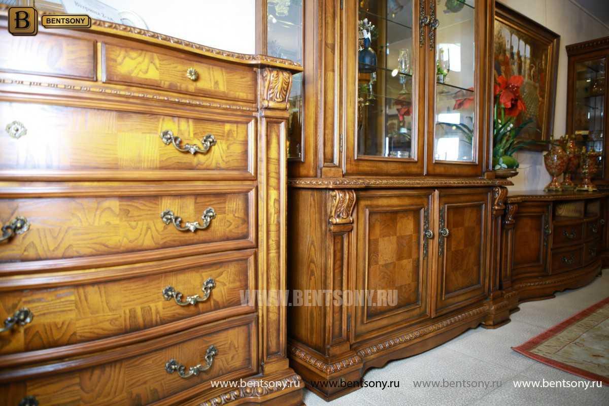 Витрина 2-х дверная Монтана (Классика, массив дерева) купить в Москве