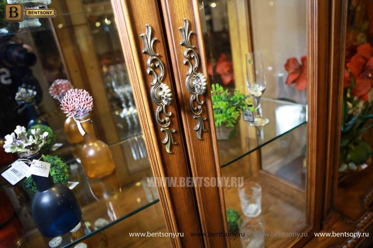 Витрина 2-х дверная Монтана (Классика, массив дерева) магазин
