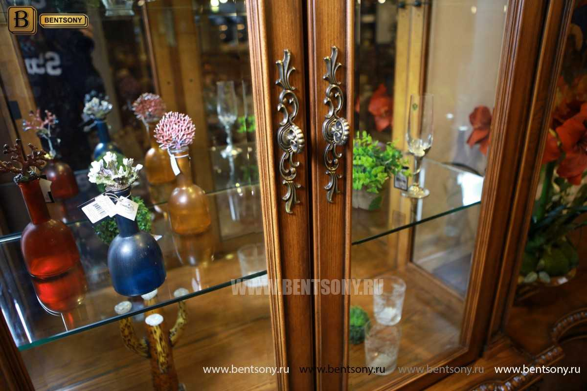 Витрина 2-х дверная Монтана (Классика, массив дерева) купить