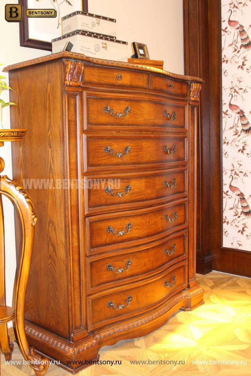 Комод Монтана Высокий (массив дерева, классика) каталог мебели