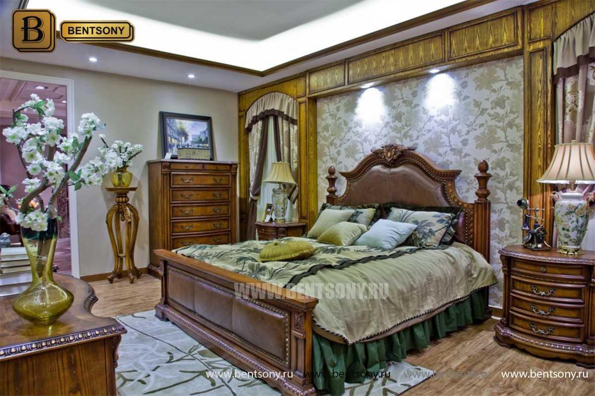 Спальня Монтана B (Натуральная кожа, массив дерева) магазин Москва
