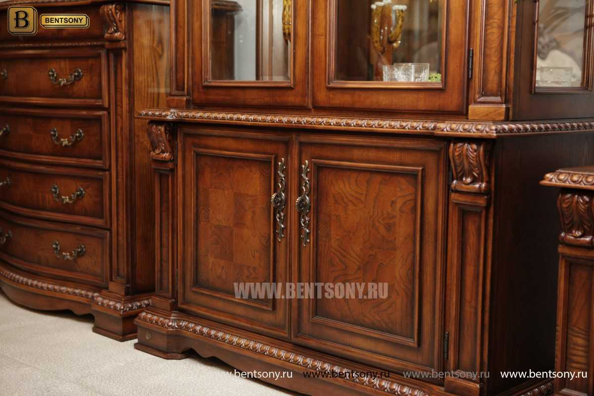 Витрина 2-х дверная Монтана (Классика, массив дерева) купить в СПб