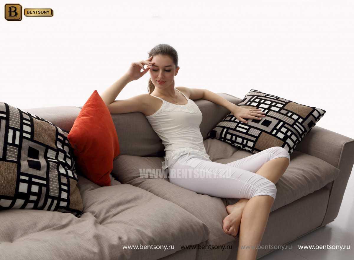 Мягкий прямой диван Бениамино