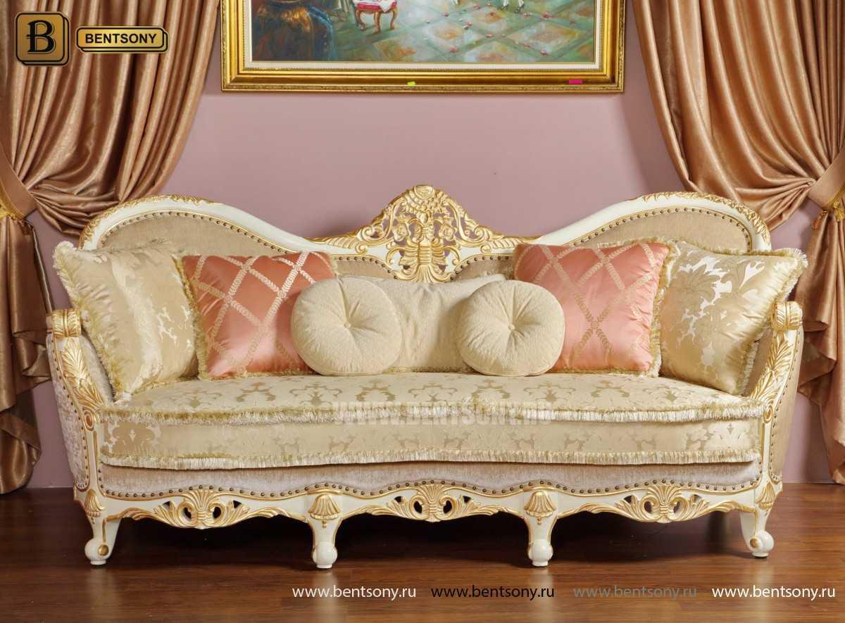 Фото-1 Прямой тканевый белый классический диван