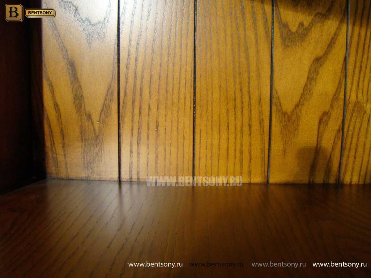 Витрина угловая Монтана (Классика, массив дерева) для дома