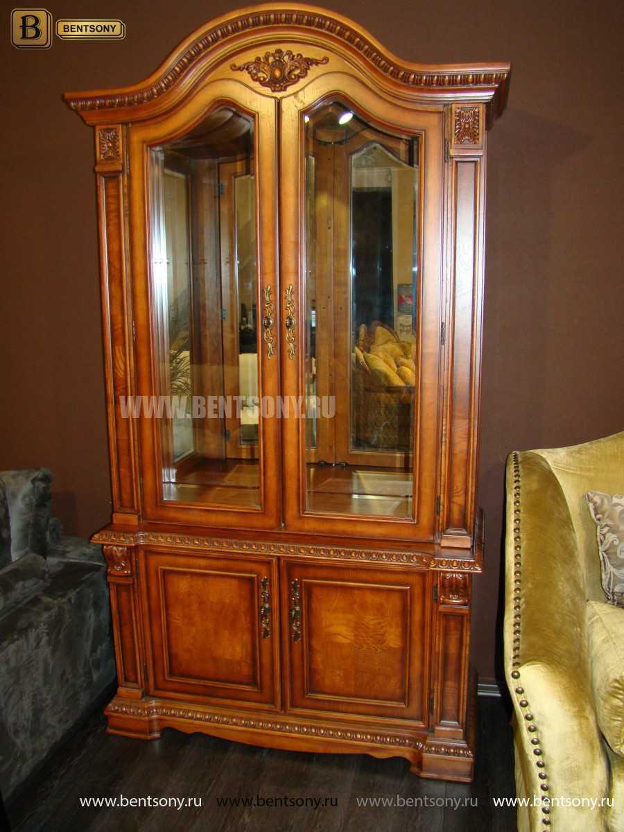 Витрина 2-х дверная Монтана (Классика, массив дерева) официальный сайт цены