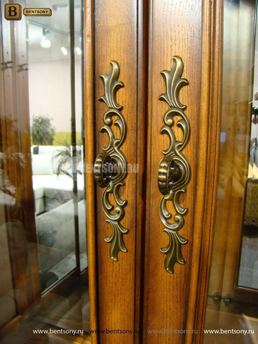 Витрина 2-х дверная Монтана (Классика, массив дерева) в СПб